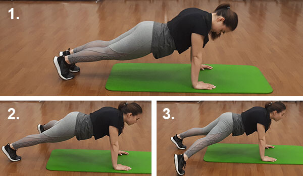 Plank with side steps