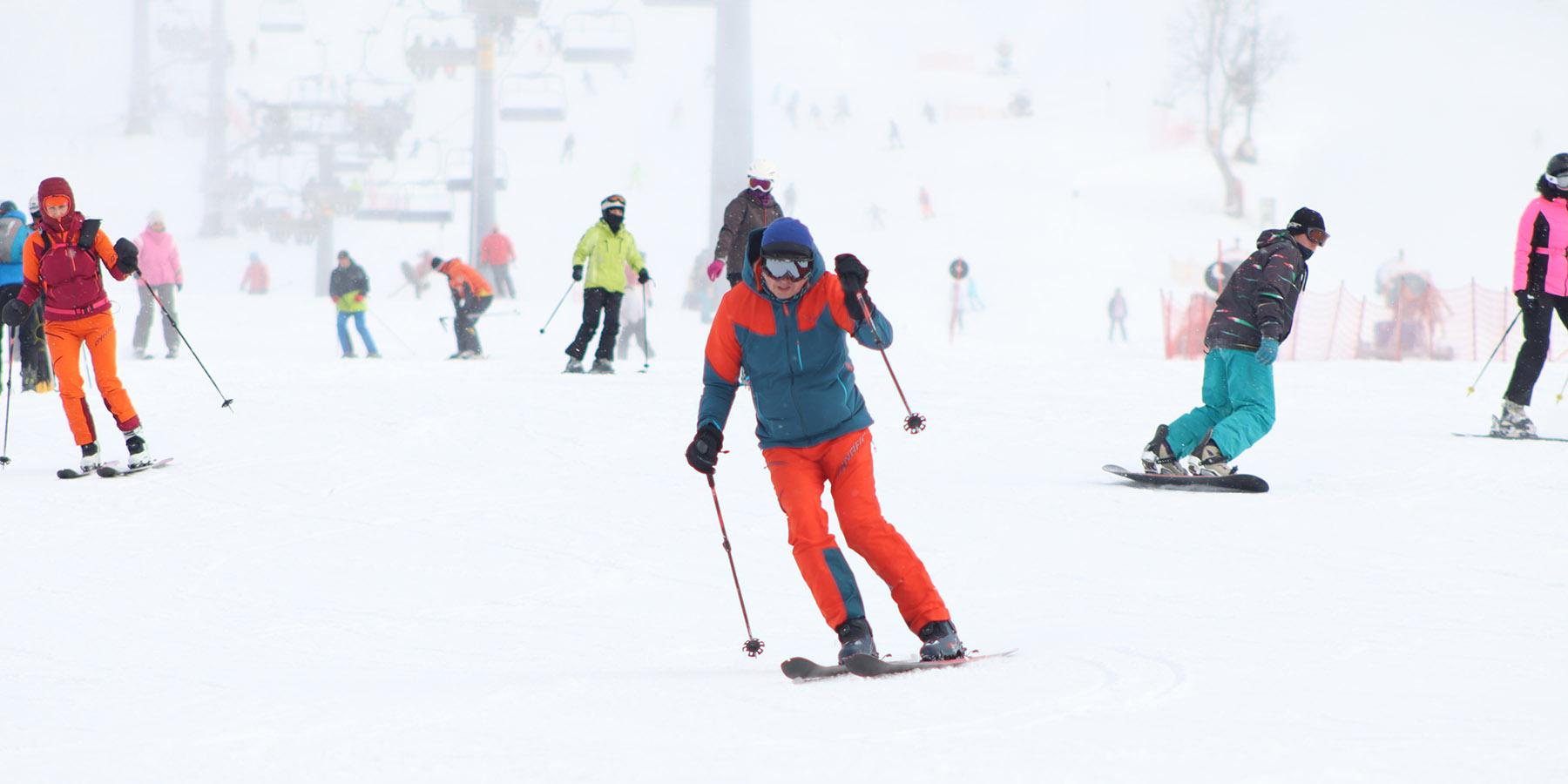skiing to burn calories
